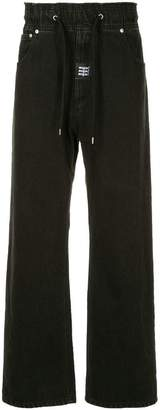 MSGM drawstring waist straight jeans