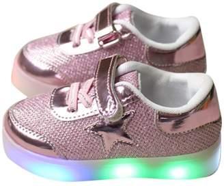 Hello Kitty Kaifei Girls Shoes Handwork Rhinestone Led Shoes Flashing Shoes