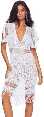 Beach Bunny Indian Summer Lace Fringe Dress