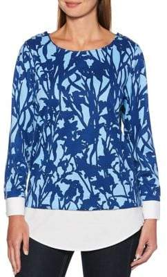 Rafaella Printed Layered Blouse