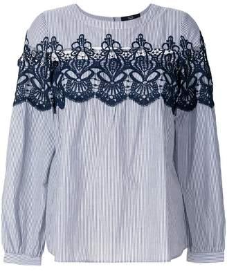 Steffen Schraut lace insert striped blouse