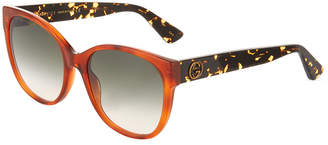 Gucci Gradient Oversized Cat-Eye Sunglasses