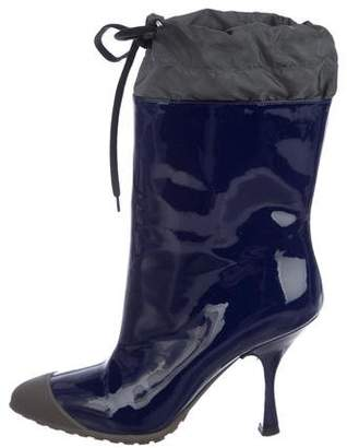 Miu Miu Patent Leather Ankle Boots