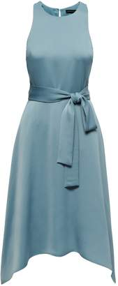 Banana Republic Racer-Neck Fit-and-Flare Dress