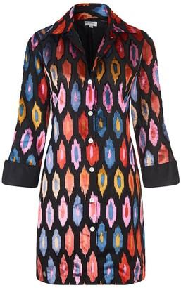At Last... Amanda Silk Velvet Shirt Multi Ikat
