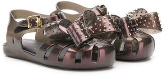 Mini Melissa studded bow details sandals