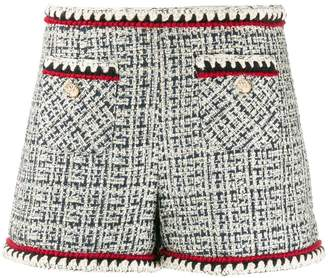 Edward Achour Paris fitted tweed shorts