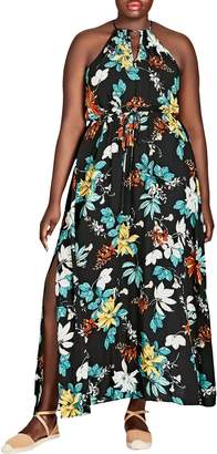 City Chic Tropical Night Maxi Dress