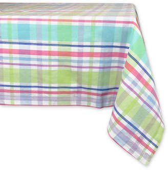 "Design Import Spring Plaid Tablecloth 60"" x 84"""