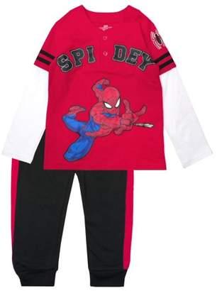 Spiderman Baseball Tee and Jogger Pant 2 Piece Set