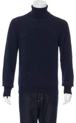 Burberry Wool & Silk Turtleneck Sweater