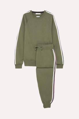 Olivia von Halle Missy Milan Striped Silk-blend Sweatshirt And Track Pants Set