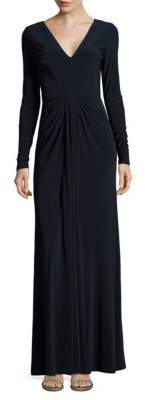 Vera Wang Solid V-Neck Gown $298 thestylecure.com