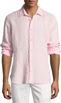 Orlebar Brown Meden Tailored Linen Sport Shirt