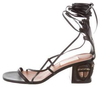 Valentino 2016 Tribal Lace-Up Sandals