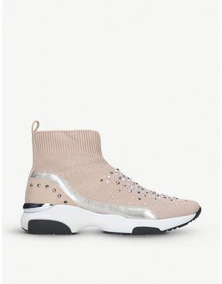 Carvela Lollie embellished sock-fit high-top trainers