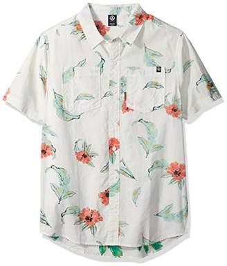Neff Men's Floral Push Button up