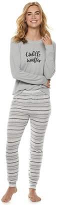 Sonoma Goods For Life Women's SONOMA Goods for Life 2-piece Raglan Tee & Pants Pajama Set