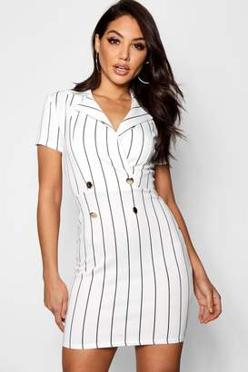 boohoo Sophia Stripe Blazer Dress