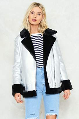 Nasty Gal It'll Be Shine Aviator Jacket