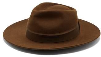 Co Hillier Bartley - X Lock & Portobello Felt Fedora Hat - Womens - Brown