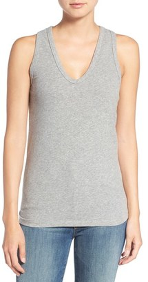 Women's James Perse Skinny Brushed Jersey Racerback Tank $95 thestylecure.com