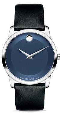 Movado Museum Classic Watch with Leather Strap, 40mm