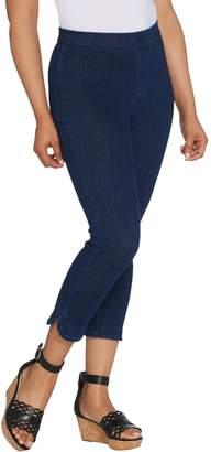 Isaac Mizrahi Live! Tall Knit Denim Pull-On Capri Jeans