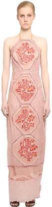 Embellished Silk Tulle Dress