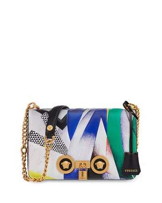 Versace Icon Medium Clash-Print Crossbody Bag