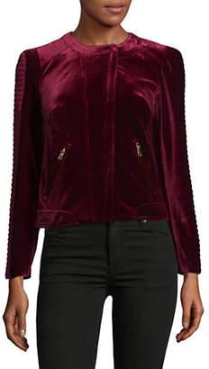 I.N.C International Concepts Petite Velvet Moto Jacket