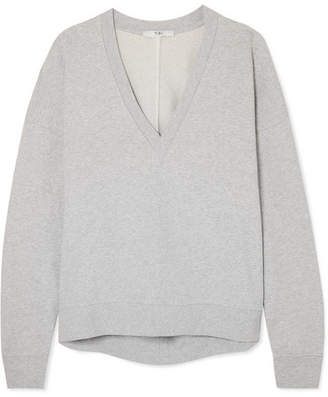 Tibi Oversized French Cotton-terry Sweatshirt - Light gray