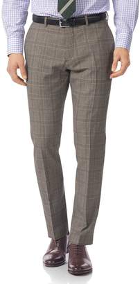 Charles Tyrwhitt Grey Slim Fit British Prince Of Wales Check Luxury Suit Wool Pants Size W32 L34