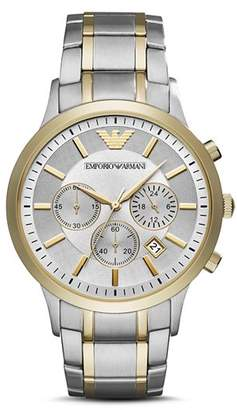 Emporio Armani Chronograph Stainless Steel Watch, 43 mm