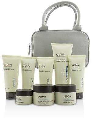 Ahava NEW Essential Beauty Case: Body Exfoliator+Body 8pcs+1bag Womens Skin Care