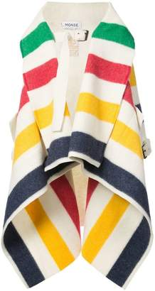 Monse striped waterfall coat
