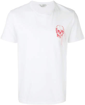 Alexander McQueen skull embroidery T-shirt