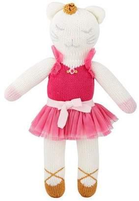 "Zubels Knit Ballerina Kitten Doll, 14"""