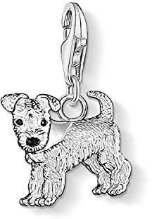Thomas Sabo Women-Charm Pendant Dog Charm Club 925 Sterling Silver black 0841-007-12 VE7sWYcD