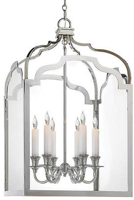 Visual Comfort & Co. Westminster Medium Lantern - Nickel/Clear