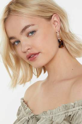 Nasty Gal Diamante Hoop Tort Earrings