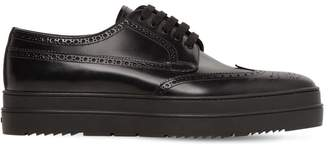 Prada Perforated Leather Lace-Up Shoes