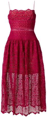Self-Portrait crocheted bodice dress