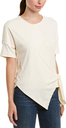 Glam Knit Asymmetrical Front Tie Top