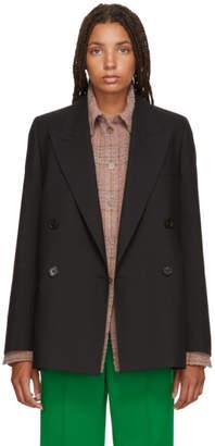 Acne Studios Black Double-Breasted Suit Blazer