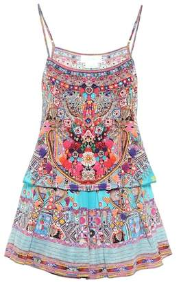 Camilla Printed silk jumpsuit