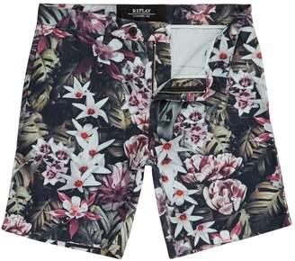 Replay Men's Floral Twill Bermuda Shorts