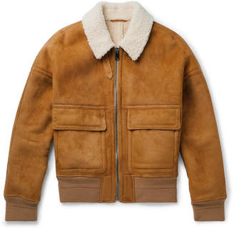 Joseph York Shearling Bomber Jacket