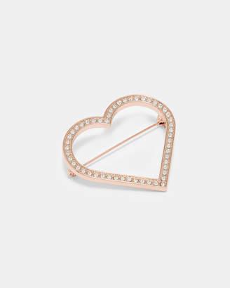 Ted Baker ESTRADA Crystal heart brooch