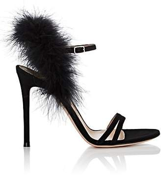 Gianvito Rossi Women's Thais Suede Ankle-Strap Sandals - Black
